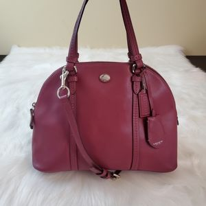 Coach Peyton Leather Cora Domed Satchel